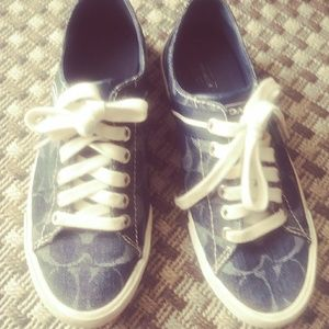 Blue Coach Sneakers Size 7